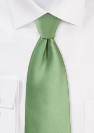 Sage Color Tie for Kids