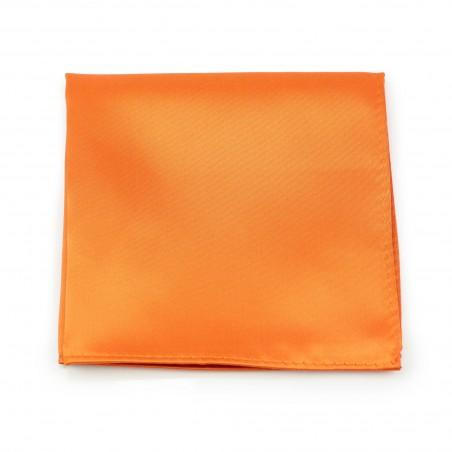Persimmon Orange Pocket Square