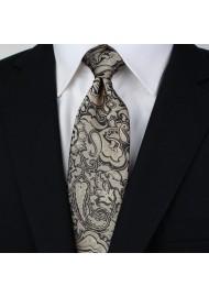 Golden Bronze Paisley Tie Styled