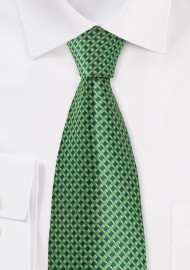 Bright Green Patterned Tie