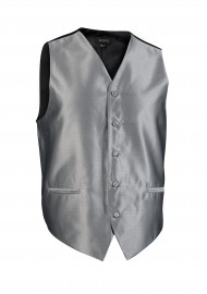 Formal Gray Mens Tuxedo Textured Vest