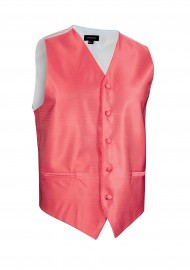 Textured Formal Wedding Vest in Coral Reef