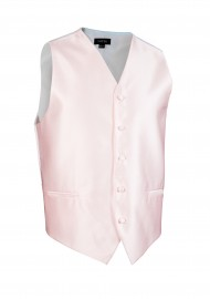 Textured Formal Dress Vest in Blush Pink