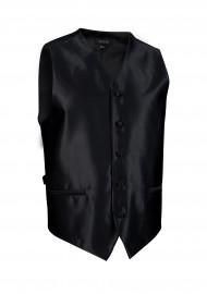 formal black textured tuxedo wedding prom vest