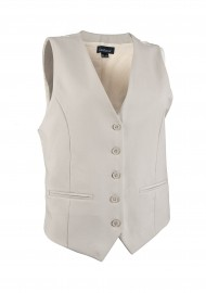 Tan Cream Textured Women's Vest