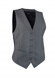 Womens Suit Vest in Medium Gray