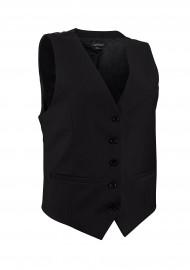 Women's Uniform Suit Vest in Solid Black