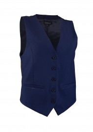 Women's Uniform Suit Vest in Midnight Blue