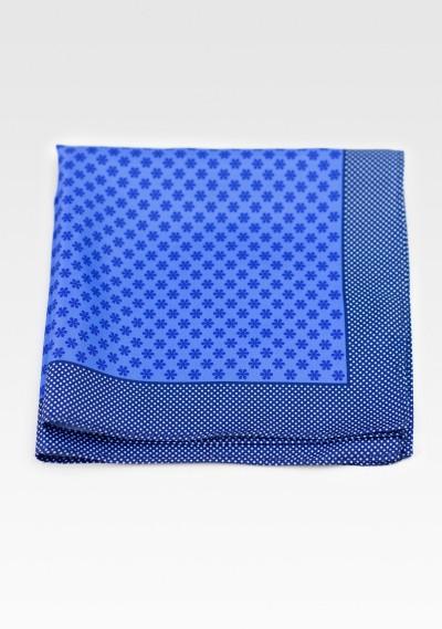 Horizon Blue Floral Suit Hanky