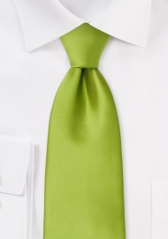 Bright Green Mens Tie in XL Length