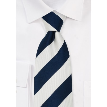 "Preppy Extra Long Ties - Striped Tie ""Lighthouse"" by Parsley"