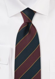 Kids Repp Tie in Burgundy and Navy