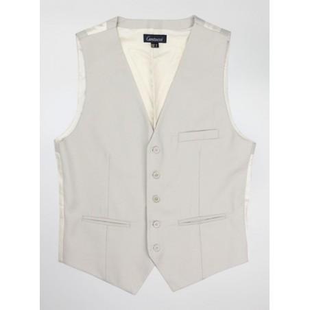 Classic Suit Vest in Tan