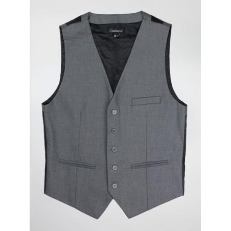 Mens Suit Vest in Dress Gray