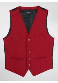 Mens Suit Vest in Cherry