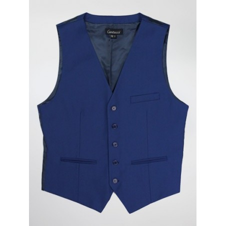 Mens Dress Vest in Indigo