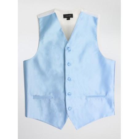 Men's Dress Vest in Capri Blue