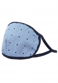 summer stripe  cotton filter face mask for men and women