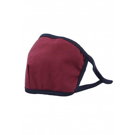 wine red filter face mask in cotton