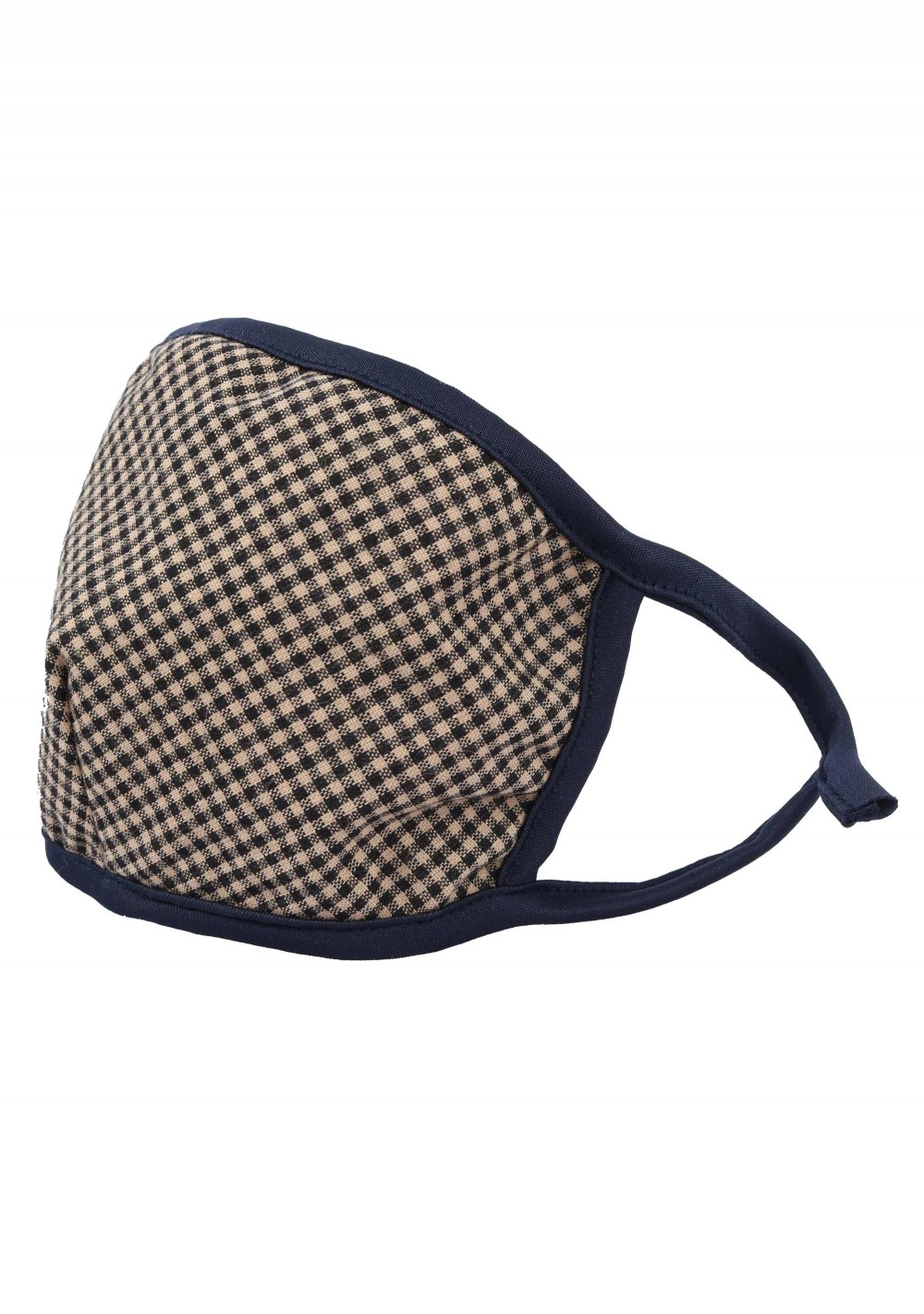 micro check tweed filter face mask