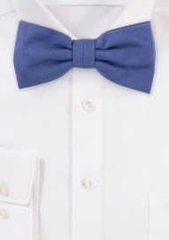 Indigo Blue Matte Cotton Bow Tie