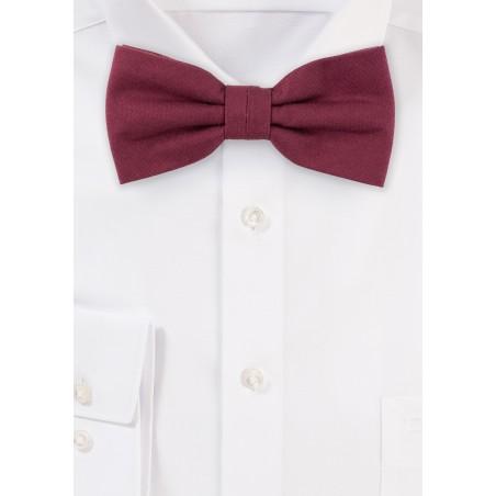 Wine Red Cotton Bow Tie