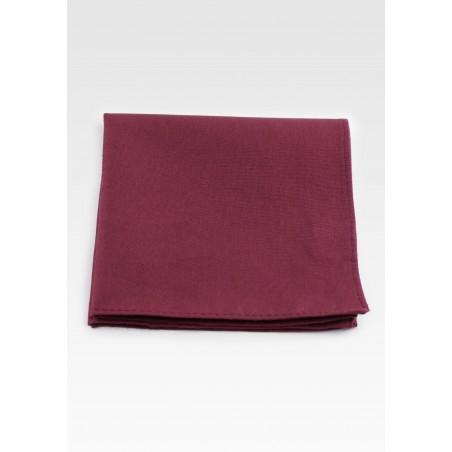 Wine Red Cotton Pocket Square