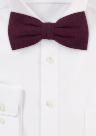 Burgundy Red Matte Textured Bow Tie