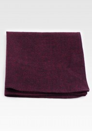 Burgundy Red Cotton Pocket Square