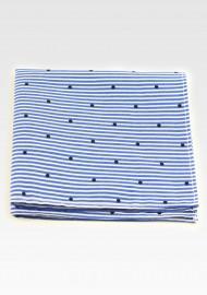 Striped Cotton Hanky with Polka Dot Print