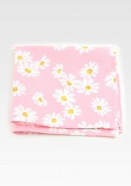 Pink Floral Cotton Pocket Square