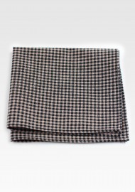Tweed Cotton Hanky in Brown