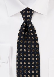 Necktie in Black and Gold