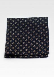 Hanky Pocket Square in Black & Gold