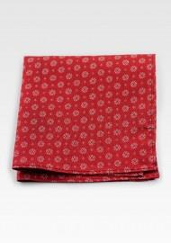 Vintage Design Hanky Pocket Square in Cherry Red