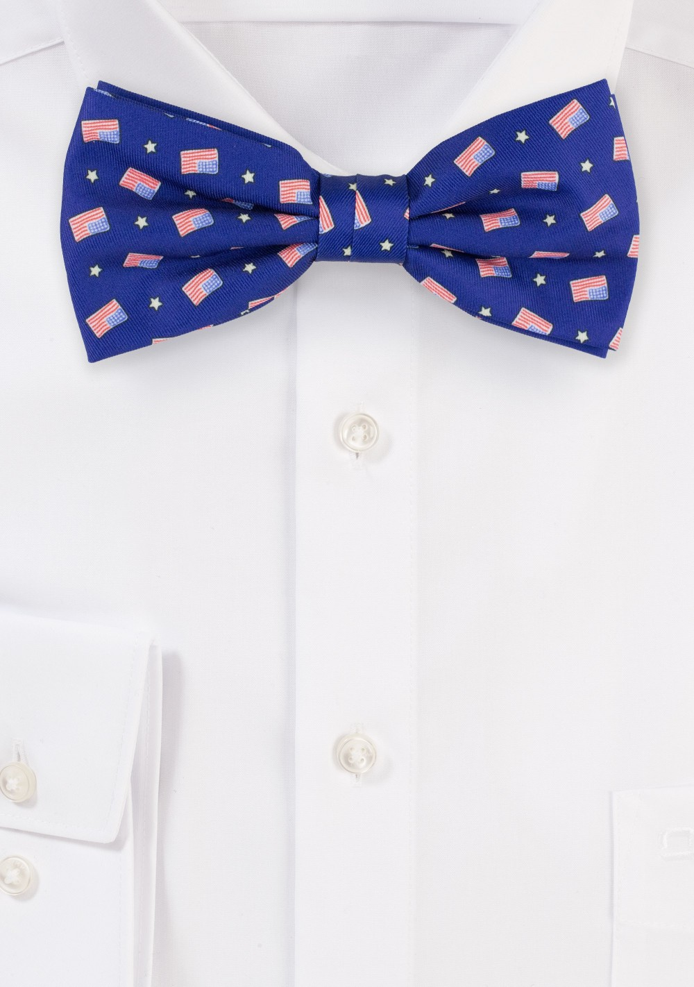 American Flag Bow Tie in Royal Blue