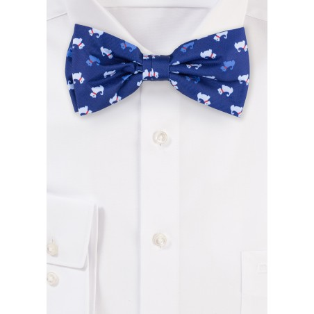 Royal Blue Bow Tie with Terrier Print