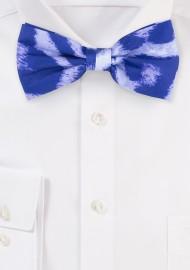 Tie Dye Leopard Print Bowtie