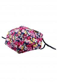 Pink Flower Design Mask in Cotton