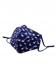 flamingo print face mask in 100% cotton