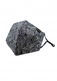 bandana paisley print face mask in cotton with filter