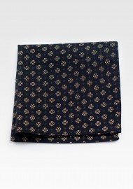 Pocket Square in Black and Gold