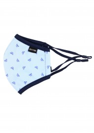 Kids Face Mask in Blue with Butterfly Print