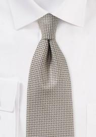 Taupe Cream Colored Necktie