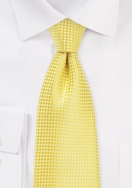 Vibrant Yellow Tie in XL Length