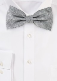 Wood Grain Bowtie in Graphite Gray