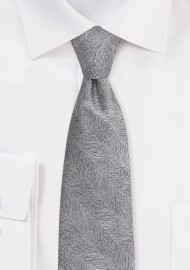 Graphite Gray Mens Tie with...