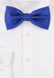 Wood Grain Weave Bowtie in Dress Blue