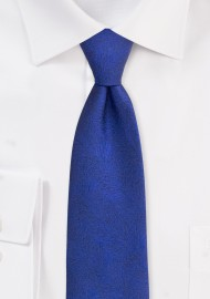 Woodgrain Textured Mens Tie in Dress Blue