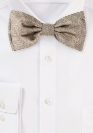 Wood Grain Weave Bowtie in Bronze Gold